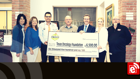 L&H Memorial Golf Tournament presents check to Texas Oncology