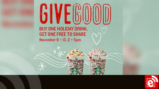 Starbucks gives back during #ShareEvent, BOGO drinks