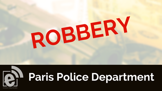 Police investigate after a robbery was reported Monday