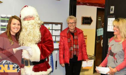 North Lamar teachers surprised by Santa on Friday