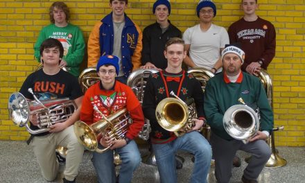North Lamar Band students play in TUBACHRISTMAS in Downtown Dallas