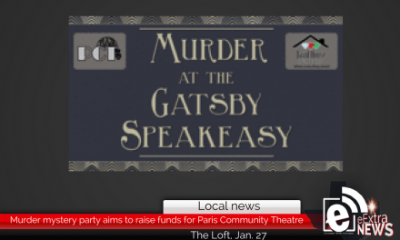 Murder mystery dinner party aims to raise funds for Paris Community Theatre, Jan. 27