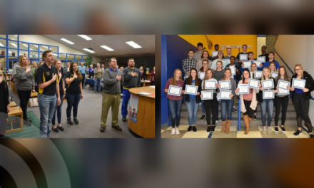 NLHS students take part in January board meeting