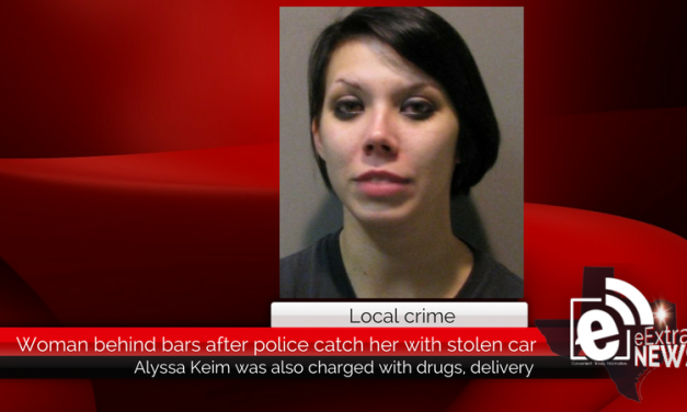 Woman behind bars after police say they caught her driving a stolen car