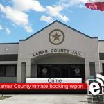 Lamar County inmate booking report || April 23, 2018