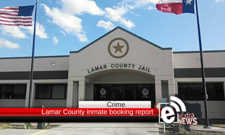 Lamar County inmate booking report || April 11, 2018