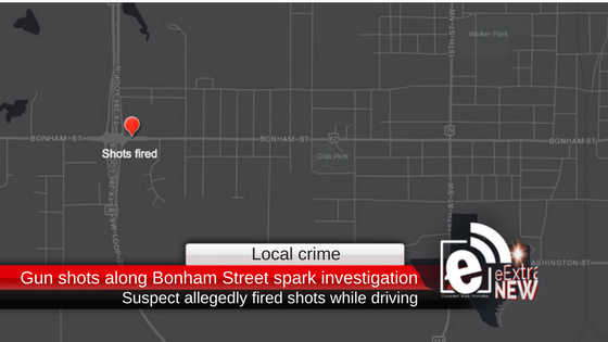 Gun shots along Bonham Street spark investigation