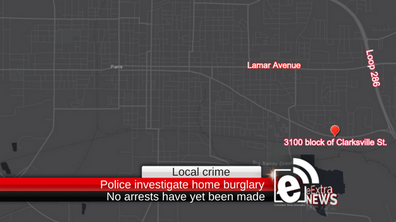 Police investigate home burglary on Clarksville Street