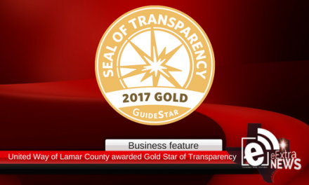 United Way of Lamar County recognized with Gold Star of Transparency
