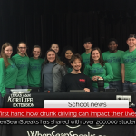 Unable to walk or talk, Sean Carter shares his story with Chisum ISD regarding a drunk-driving accident