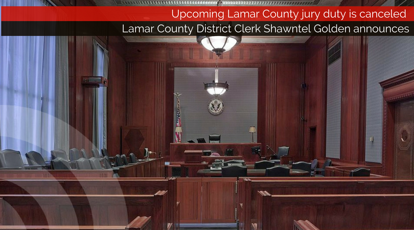 Upcoming Lamar County jury duty is canceled