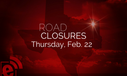 The following roads are closed in Lamar County as of Thursday, Feb. 22