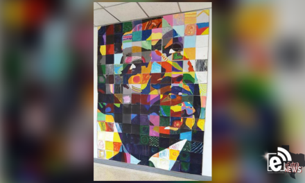 Students create portrait using abstract art