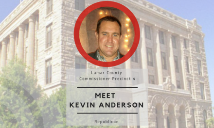Meet Kevin Anderson, candidate for Lamar County Commissioner Precinct 4