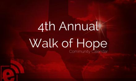 4th Annual Walk of Hope in Downtown Paris, Texas, April 11