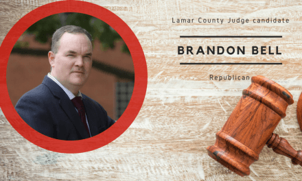 Brandon Bell will run against Superville for Lamar County Judge