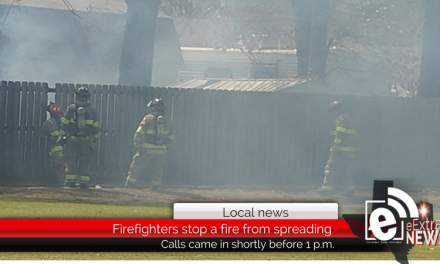 A home is saved after firefighters extinguish flames before spreading to other structures