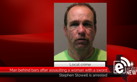 Man is behind bars after allegedly assaulting a woman with a sword