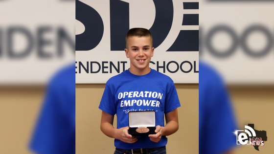 Crockett student recognized for outstanding volunteer service