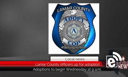 Lamar County officers up for adoption Wednesday at 9 a.m.