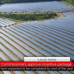 Commissioners approve incentive package for new solar farm