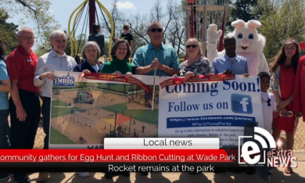 Community gathers for Egg Hunt and Ribbon Cutting at Wade Park