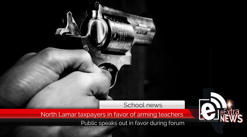 North Lamar taxpayers seemingly in favor of arming teachers