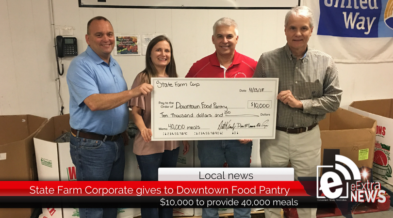 State Farm Corporate gives to Downtown Food Pantry