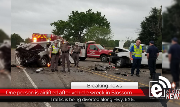 One person is airlifted after vehicle wreck in Blossom • Updated 4 p.m.