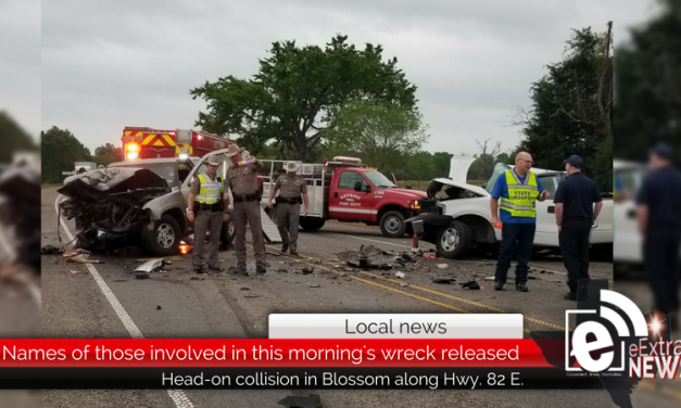 Names of those involved in this morning's wreck in Blossom are released