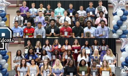 Paris High School student athletes honored