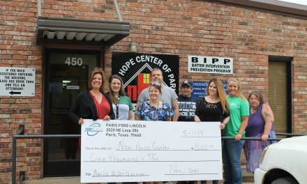 Local organization wins $1,000 to bring hope to the Paris community