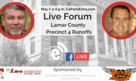 We're live with the Lamar County Precinct 4 Commissioner candidates