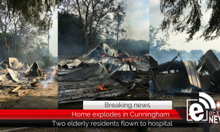 House explodes in Cunningham with two elderly people inside • Updated 10:25 a.m. with photos