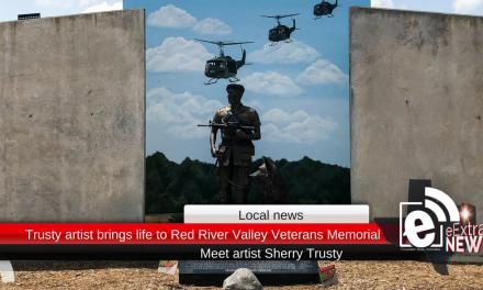 Trusty artist brings life to Red River Valley Veterans Memorial