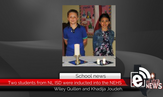 Two students from NL ISD were inducted into the NEHS