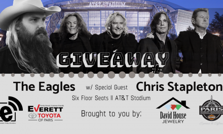 Enter to win floor seats to see The Eagles and Chris Stapleton