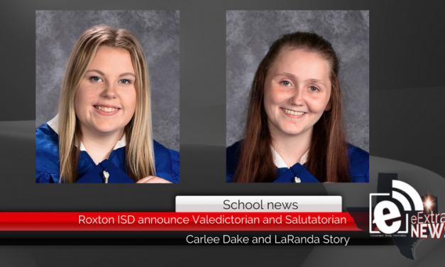 Roxton ISD announce Valedictorian and Salutatorian