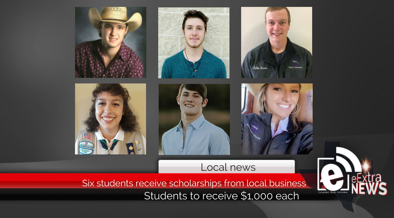 Six students receive scholarships from local business