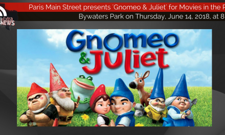 Movies in the Park presents 'Gnomeo and Juliet' this Thursday at 8 p.m.