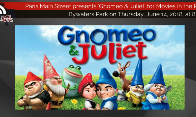 Movies in the Park presents 'Gnomeo and Juliet' tonight at 8 p.m.
