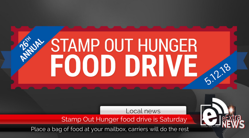 Stamp Out Hunger Postal Carriers Food Drive TODAY