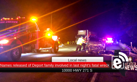 Names released of Deport family involved in last night's fatal wreck