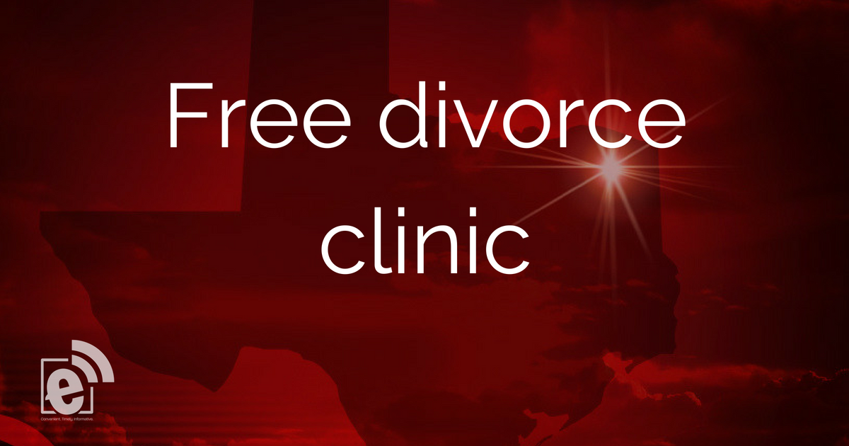 Applications available for free divorce clinic