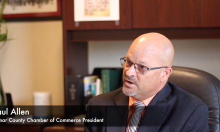 First day on the job, meet Chamber of Commerce President Paul Allen