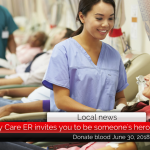 Save a life at the Quality Care ER blood drive June 30, 2018