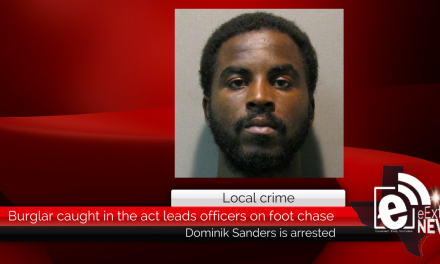 Caught in the act, a burglar led officers on a foot chase Thursday