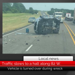 Traffic slows to a halt after wreck on 82 W. in Honey Grove • Updated 5:55 p.m.