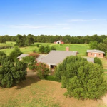 Small Texas ranch with a large custom built home