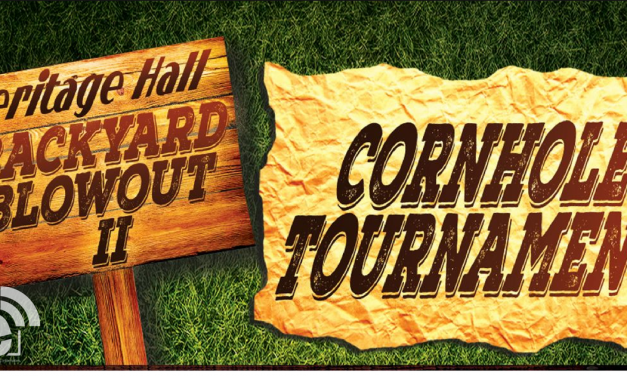 Cornhole Tournament at Heritage Hall's Backyard Blowout